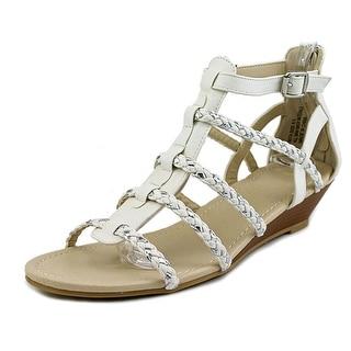 Groove Rita Women Open Toe Leather White Sandals