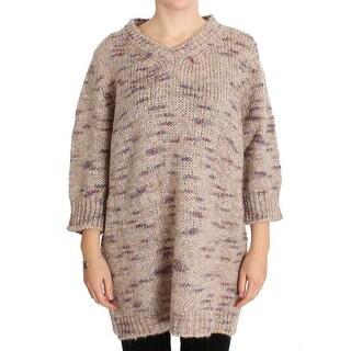 PINK MEMORIES PINK MEMORIES Beige Wool Blend Knitted Oversize Sweater - it42-m