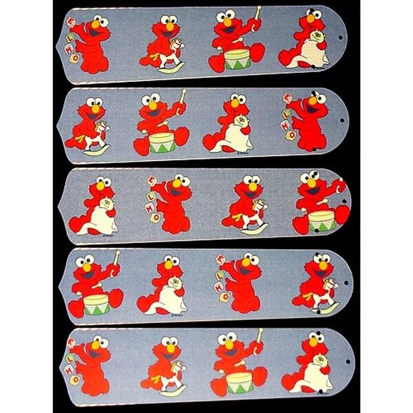 Baby Elmo Custom Designer 52in Ceiling Fan Blades Set - Multi