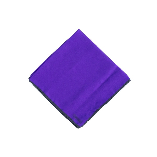 Tom Ford Mens Solid Bright Purple Silk Pocket Square