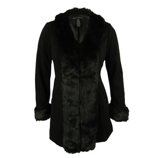INC International Concepts Women's Faux Fur Trim Jacket