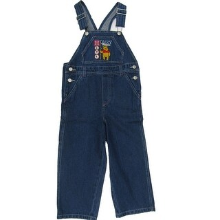 Disney Little Girls Blue Winnie The Pooh Embroidered Overalls
