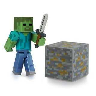 """Minecraft 3"""" Series 1 Figure With Accessories: Zombie"""