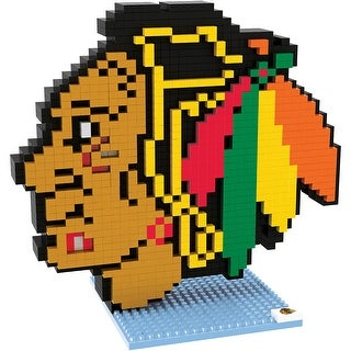 Chicago Blackhawks 3D NHL BRXLZ Bricks Puzzle Team Logo