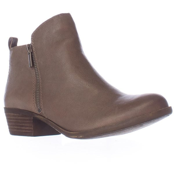 Lucky Brand Basel Side Zip Ankle Boots, Brindle