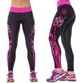 New Women's Printed Gym Running Yoga Pants High Rise Stretch Leggings Sweatpants Winter Trousers - Thumbnail 33