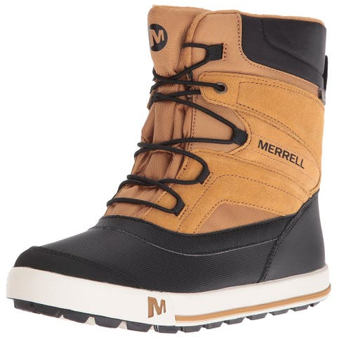 Kids Merrell Boys Snow Bank 2.0 WTRPF - K Fabric Mid-Calf Bungee Snow Boots