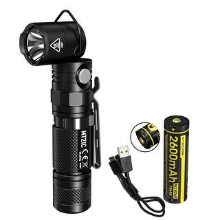 NITECORE MT21C 1000 Lumen 90 Degree Adjustable Flashlight w/ USB Rechargeable Battery