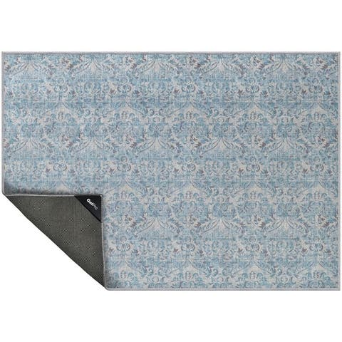 "NeverMove Washable Designer Rug by GelPro 24x34 Biscayne Blue Bayou - 24""x34"""