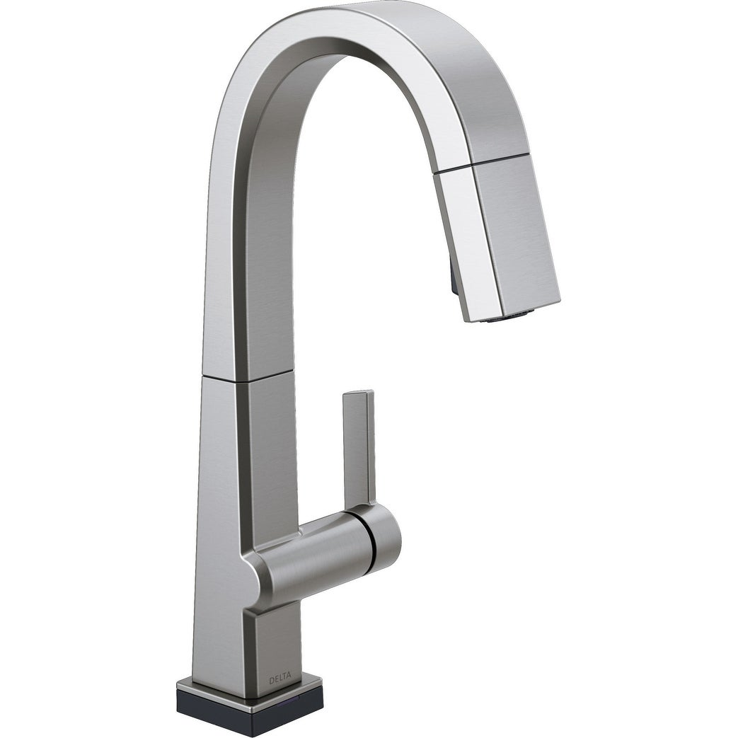 Delta 9993T-DST  Pivotal 1.8 GPM Single Hole Pull Down Bar Faucet with On/Off Touch Activation, Magnetic Docking Spray Head (Chrome)