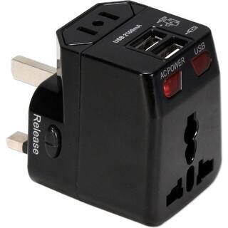 QVS PA-C4BK QVS Premium World Travel Power Adaptor with Surge Protection & 2.1A Dual-USB Charger - 120 V AC, 230 V AC Input https://ak1.ostkcdn.com/images/products/is/images/direct/cce4389531eb89ea119d884c4e779bd6e6433822/QVS-PA-C4BK-QVS-Premium-World-Travel-Power-Adaptor-with-Surge-Protection-%26-2.1A-Dual-USB-Charger---120-V-AC%2C-230-V-AC-Input.jpg?impolicy=medium