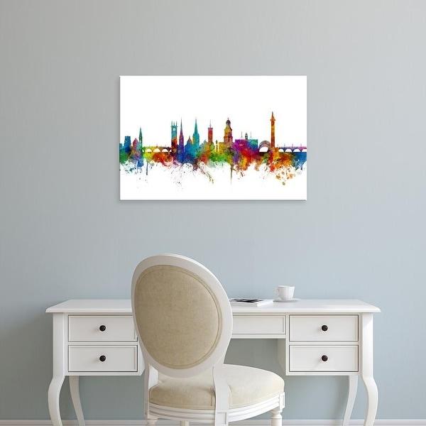 Easy Art Prints Michael Tompsett's 'Shrewsbury England Skyline' Premium Canvas Art