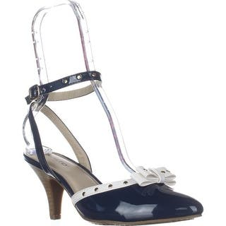 Rialto Maggie Ankle Strap Low-Heel Pumps, Navy|https://ak1.ostkcdn.com/images/products/is/images/direct/cce484ab44765d97894ba9640236b82cb4798082/Rialto-Maggie-Ankle-Strap-Low-Heel-Pumps%2C-Navy.jpg?impolicy=medium