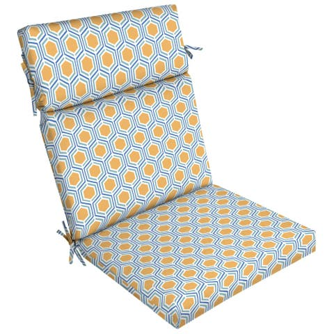 Arden Selections Honeycomb Outdoor Dining Chair Cushion - 44 in L x 21 in W x 4.5 in H