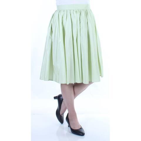 MAXMARA Womens Green Zippered Knee Length Pleated Skirt Size: 4