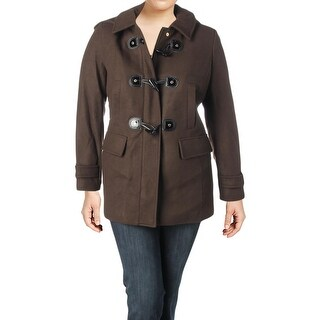 MICHAEL Michael Kors Womens Toggle Coat Winter Wool