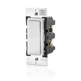 Leviton DW15S-1BZ Decora Smart Wi-Fi 15A Universal LED/Incandescent Switch - White