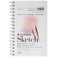 """100 Sheets - Strathmore Sketch Spiral Paper Pad 5.5""""X8.5"""""""