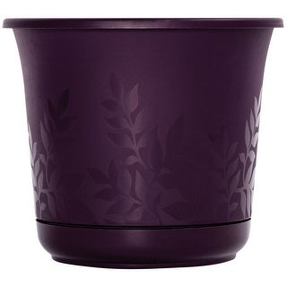 "Bloem FP0856 Freesia Etched Planter, Resin, 8"", Exotica"