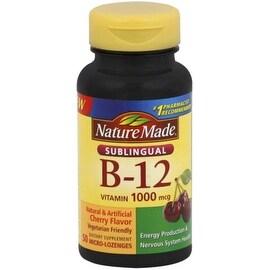 Nature Made B-12 1000 mcg Micro-Lozenges Cherry Flavor 50 ea