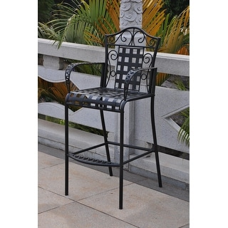 Link to International Caravan Mandalay Iron Bar Chairs (Set of 2) Similar Items in Patio Dining Chairs
