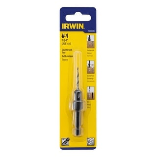 Irwin 1882630 Wood Countersink Drill Bit, #4 x 7/64""
