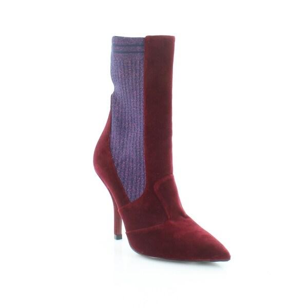 42b09b996788 Shop Fendi Rockoko Mid Calf Booties Women s Boots Bordeaux - 7.5 ...