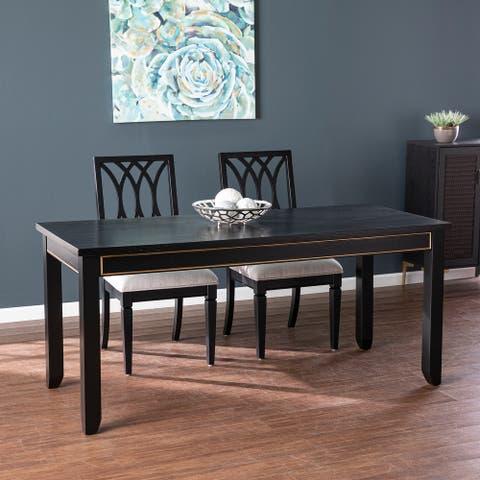 Gracewood Hollow Maubert Contemporary Black Wood Dining Table