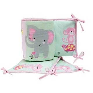 Bedtime Originals Pink Twinkle Toes 4-Piece Crib Bumper