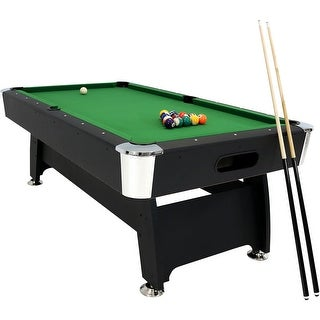 Sunnydaze 7-Foot Pool Table with Ball Return