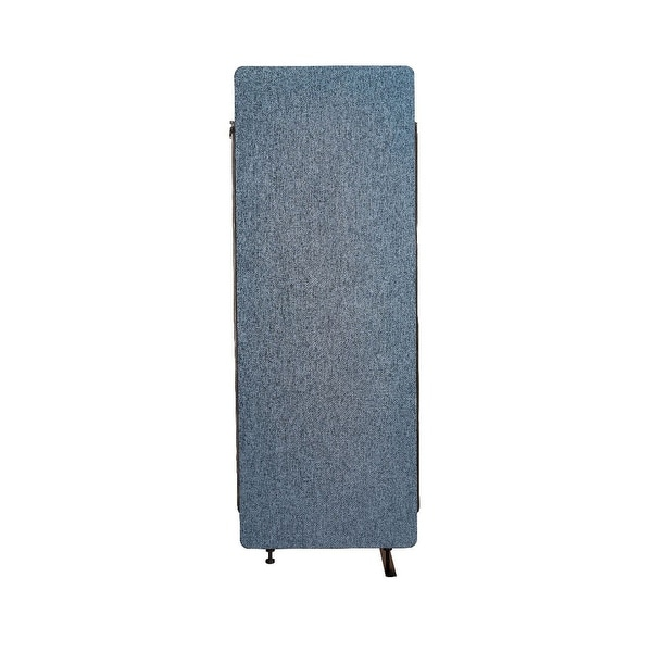 Offex Wall Partition Privacy Screen Freestanding Acoustic Room Divider, Expansion Panel for Office, Classroom - Pacific Blue