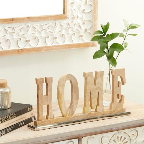 Brown Wood Natural Decorative Sign 8 x 18 x 2 - 18 x 2 x 8