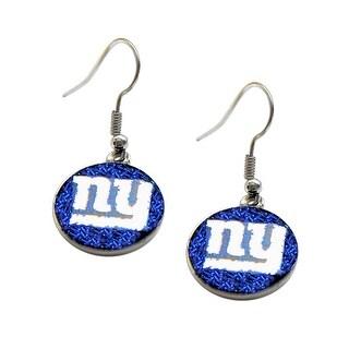 New York Giants Glitter Sparkle Dangle Logo Earring Set Charm Gift NFL