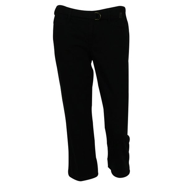 Lauren Jeans Co. by Ralph Lauren Women's Belted Straight Leg Cotton Capris