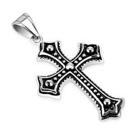 Metallic Ball Layered Cross 316L Stainless Steel Pendant (34 mm Width)
