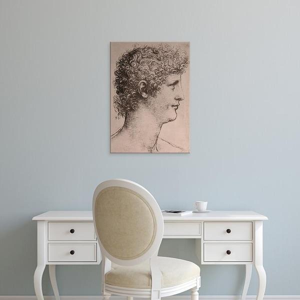 Easy Art Prints Leonardo da Vinci's 'Portrait of Giacomo Caprotti' Premium Canvas Art