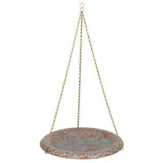 Whitehall Oakleaf Hanging Birdbath (Copper Verdi)