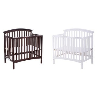 Costway Pine Wood Baby CribToddler Bed Convertible Nursery Infant Newborn Coffee/ White