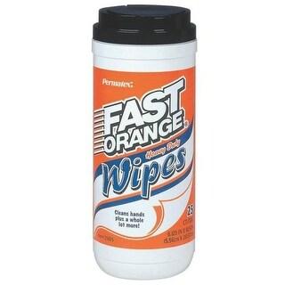 Permatex 25050 Fast Orange Hand Cleaner Wipes, 25 count