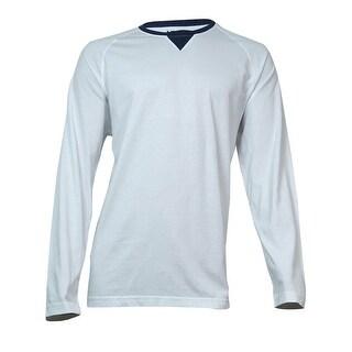 IZOD Men's Long-Sleeve Raglan Pullover Shirt (Bright White, XL) - XL