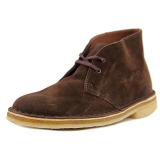 Clarks Originals Desert Boot Men Round Toe Suede Brown Desert Boot