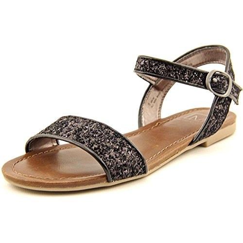 Material Girl Kim Women Open-Toe Synthetic Black Slingback Sandal