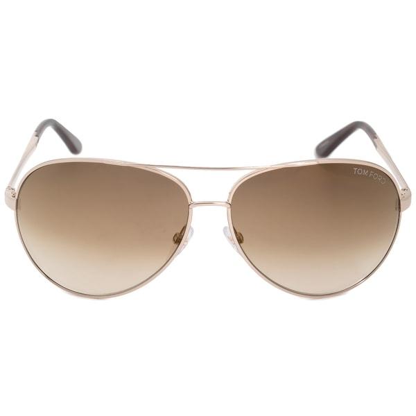 30803b12e8 Shop Tom Ford Charles Aviator Sunglasses FT0035 28G 62 - Free ...