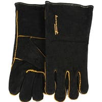 Forney 53426 Black Leather Men's Welding Gloves, X-Large