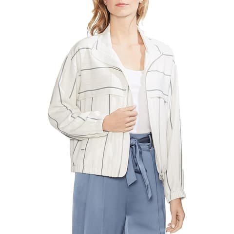 Vince Camuto Womens Bomber Jacket Striped Lightweight