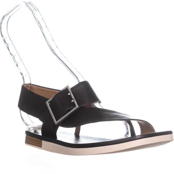 Calvin Klein Rivita Thick Strap Buckle Sandals, Black - 7.5 us / 37.5 eu