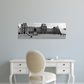 Easy Art Prints Panoramic Images's 'Tourists in the courtyard of a museum, Musee Du Louvre, Paris, France' Canvas Art
