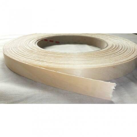 "Band-IT 78250 Pre-Glued Iron-On Wood Veneer Edgebanding, 7/8"" x 25',White Birch"