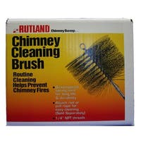 "Rutland Chimney Sweep 16533 Rectangular Wire Brush, 8"""" x 12"""", Black"""