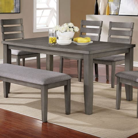 The Gray Barn Park House Transitional Grey 64-inch Dining Table
